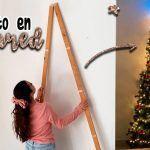 Árbol de Navidad en la pared DIY
