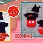 Body Mini y Mickey mouse para bebé niña
