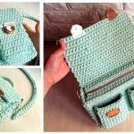 DIY Bolso de crochet con cremallera paso a paso