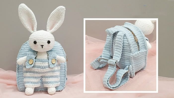 Mochila para niños a crochet DIY paso a paso
