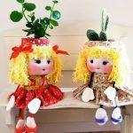 Muñecas macetas con flores DIY